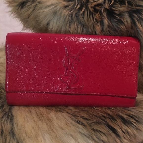 d9227bab4de YSL Authentic Belle Du Jour Large Red Clutch. M_5ae6a8a685e605e9afa2bb2b